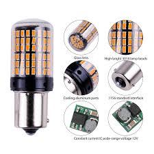 1x 3014 <b>144smd</b> CanBus S25 <b>1156</b> BA15S P21W LED BAY15D ...