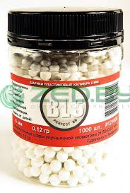 <b>Шарики пластиковые BLS</b> 0.12g 6mm 1000шт White, цена 11 руб ...