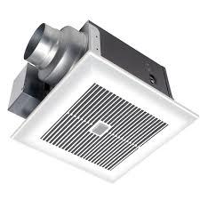 sensing bathroom fan quiet: panasonic whispersense  cfm ceiling humidity and motion sensing exhaust bath fan with timer energy