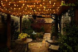 hang bistro lights under a covered deck for cozy outdoor dining backyard string lighting