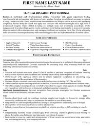 clinical research resume sample template research resume template