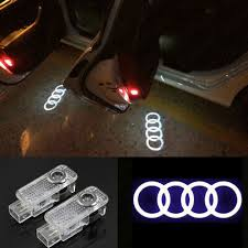 <b>2X For Audi</b> Logo LED Laser Projector <b>Door</b> Welcome Ghost ...