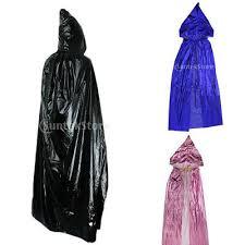 <b>Adults</b>' Metallic <b>Hooded Cloak</b> Robe <b>Gothic</b> Witchcraft Costume Blue ...