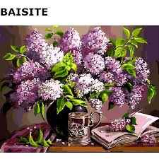 BAISITE <b>DIY Oil</b> Painting By Numbers <b>Frameless</b> Pictures On ...