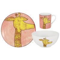 «<b>Набор из 3-х предметов</b> Зайчонок: кружка, тарелка, миска ...