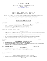 corey r stich resume financial services expert lt br   gt experience using several risk based investment solutions including stocks