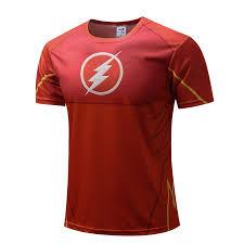 Men Quick Dry T-<b>shirt</b> Superhero The Flash <b>3D</b> Sportswear Gym ...