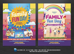 family fun day flyers flyer templates on creative market