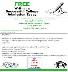 write a successful college admission essay wolverine farm m a y o college essay 2