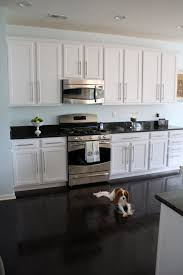Small Picture Exellent White Kitchen Dark Floors On A Bespoke Square Green