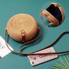 <b>2018</b> Round <b>Straw Bags</b> Women Summer Rattan <b>Bag</b> Handmade ...