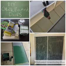 DIY Chalk Board Doors