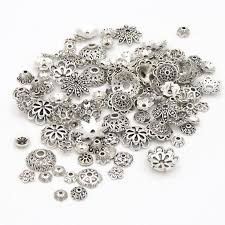 <b>Mixed</b> Tibetan Antique Silver Color Flower Bead End Caps For ...
