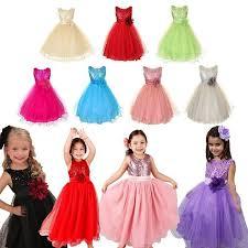 Pentagon 3-10Y Girl Kids Flower <b>Dress Wedding</b> Party <b>Princess</b> ...