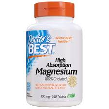 Doctor's Best <b>High Absorption Magnesium</b> Tablets, 100 Mg, 240 Ct ...
