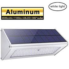 <b>LED</b> Solar <b>Lights</b>, 1100lm <b>48 LED</b> 4500mAh Solar Powered Outdoor ...