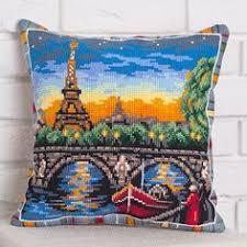 <b>Набор для вышивания Panna</b> ПД-1737 Подушка Небо Лондона ...
