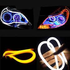 <b>2Pcs</b>/Lot 45cm <b>60cm DRL Daytime</b> Running Lamp Flexible Car Soft ...