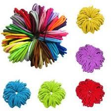 Kids Girls 50Pcs/Lot Thick Endless Snag Free Hair Elastics ... - Vova