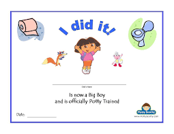 printable dora the explorer potty training certificate for boys the dora potty certificate for boys in pdf or
