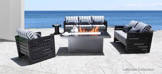 aluminium patio cover surrey: lakeview modern cast aluminum patio furniture conversation set