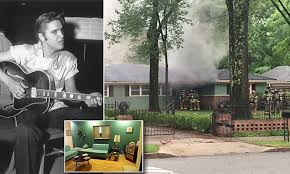 Elvis Presley's former Memphis home catches on fire | Daily Mail ...