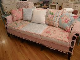 shabby chic sofa living room with chenille fabric cottage cozy beach shabby chic furniture