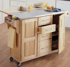 leaf kitchen cart: cart with wooden kitchen island on wheels with storage and drop leaf on island