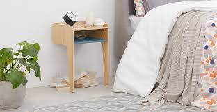 <b>Sway</b> Bedside Table, Ash and Teal | MADE.com