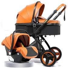 3 in 1 baby stroller <b>High landscape baby carriage</b> basket can sit ...
