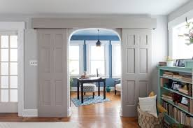 sliding door ideas home office craftsman with blue and white brunelleschi image by brunelleschi construction blue white home office