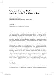 (PDF) What <b>color</b> is sustainable? Examining the <b>eco</b>-friendliness of ...