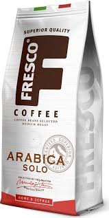 <b>Кофе</b> в зернах <b>Fresco Arabica</b> Solo, 200 г, размер 96 x 55 x 214, мм