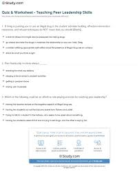 teaching leadership skills lawteched quiz worksheet teaching r leadership skills study com
