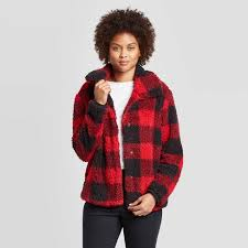 <b>Women's Plaid Long</b> Sleeve Shirt <b>Jacket</b> - Knox Rose™ Red : Target