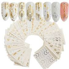 30pcs Nail Sticker Feather Flower Spider Design Decal for ... - Vova