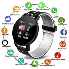 <b>119 Plus</b> IOS <b>Smart</b> Watches <b>Fitness</b> Tracker Heart Rate Blood ...