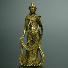 <b>CHINESE</b> OLD <b>COLLECTION handwork</b> bronze Guanyin ...