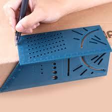 3D <b>45/90 Degree</b> Square Size Measure <b>Carpenter</b>''s Ruler Tool ...