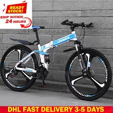 <b>DHL Fast Delivery</b> Folding <b>Bicycle</b> 27 30 Variable Speed Mountain ...