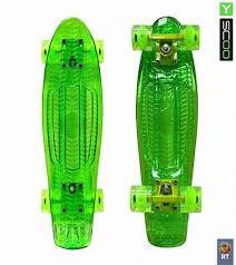 <b>Скейтборд</b> 5-13 Y-SCOO Penny board <b>RT</b> 22 Shine green со ...