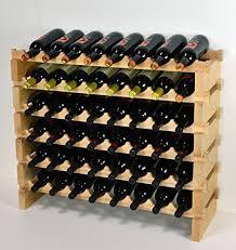 <b>Wine Rack</b> Wood -<b>48</b> Bottles Modular Hardw- Buy Online in ...