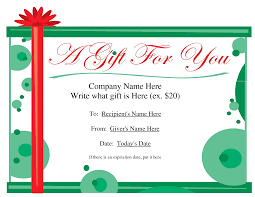 best photos of gift certificate format template birthday it