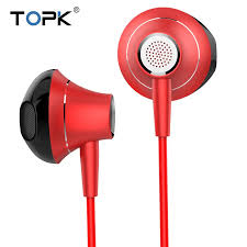 TOPK 3.5mm Heavy <b>Bass Wired In</b>-Ear <b>Earphones</b> With Mic Volume ...