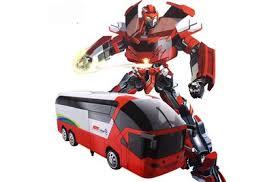 <b>Радиоуправляемый</b> трансформер MZ Красный автобус 1:14 ...