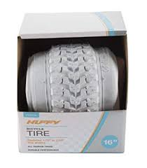 "Huffy <b>Bike Tire</b> Replacement 16"" 20"" 24"" 26"" 27.5"" 29"" <b>White</b> & Black"