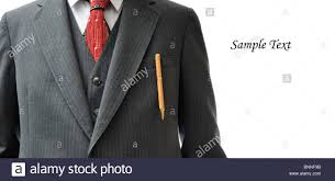 <b>Business suit</b> with an expensive <b>pen</b> in the pocket, and copy space ...