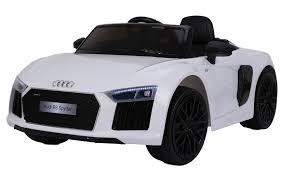 <b>Электромобиль Farfello JJ2198</b> Audi R8 Spyder белый экокожа