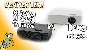 <b>BenQ MH535</b> & Optoma HD143X im Beamer Test! - YouTube
