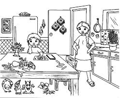 Small Picture Wilma Cooking in the Kitchen Coloring Pages Wilma Cooking in the